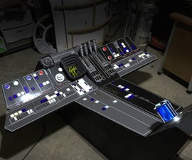 Millennium Falcon Dashboard (Full Scale Garage Build)