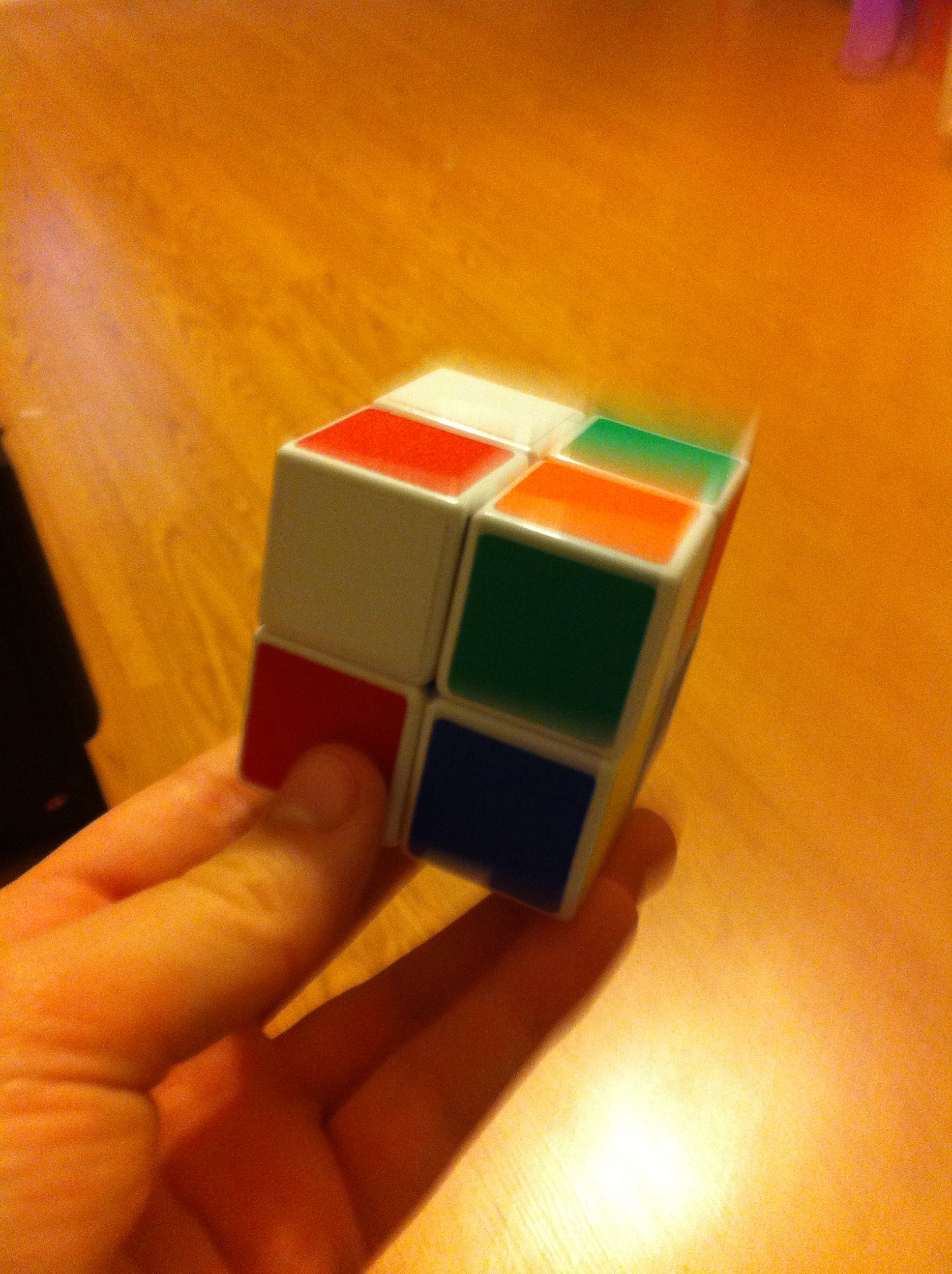 How to Solve a 2 By 2 Rubix Cube