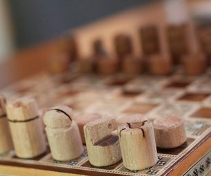 Custom Chess Pieces From 1 Wooden Dowel
