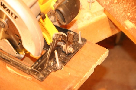 Mount the Saw to the Panel