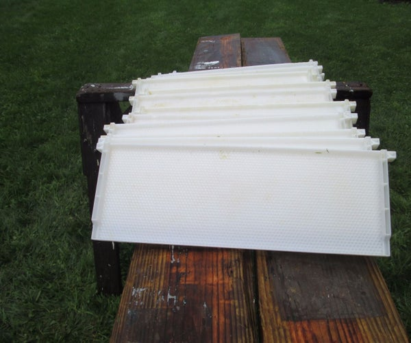 Salvaging Plastic Beehive Frames