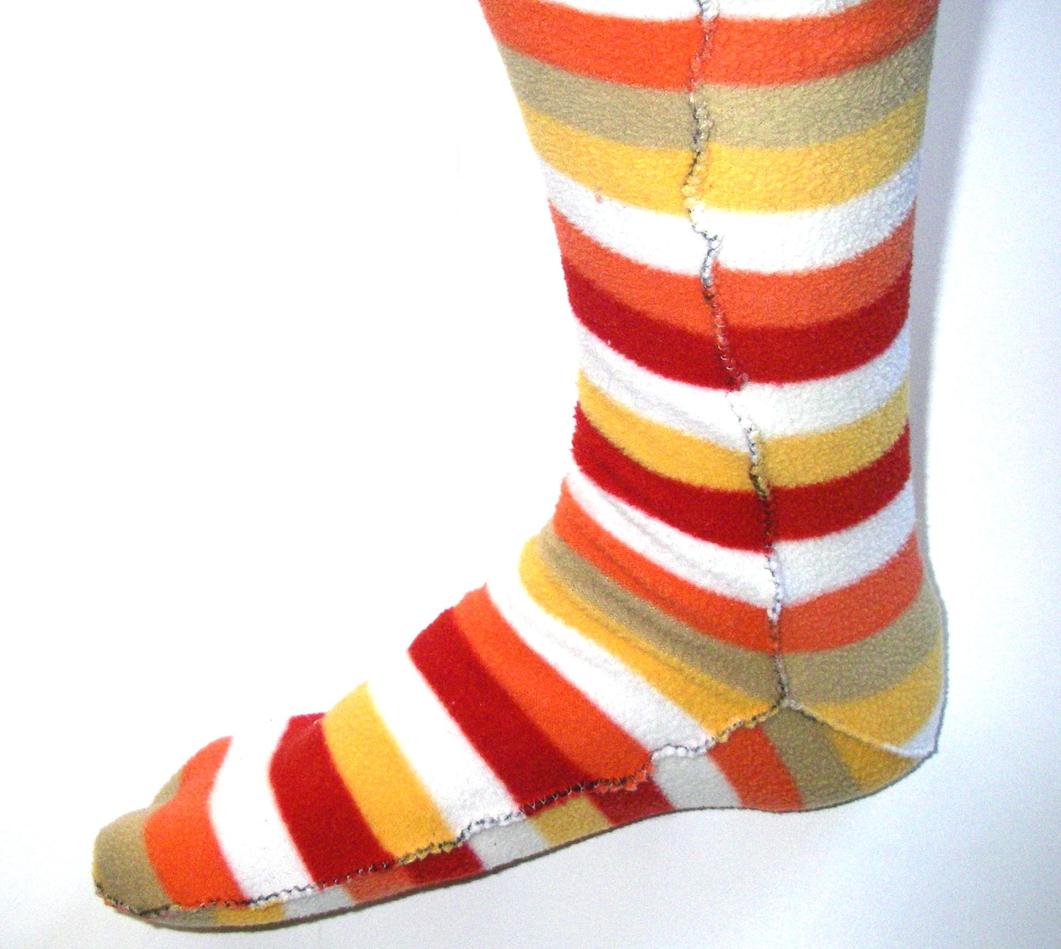 Cozy Socks from Polarfleece Blanket