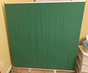 如何创建一个可缩回的绿色屏幕