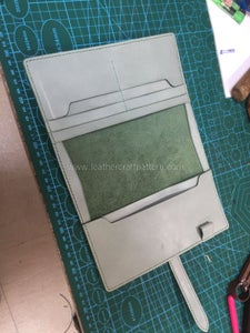 Glue and Sew All Pieces on Flesh Side of Surface As Pictures Show.