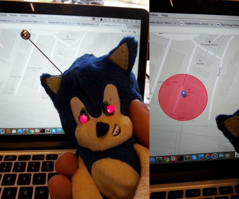 Voodoo Sonic LoRaWAN-connected doll
