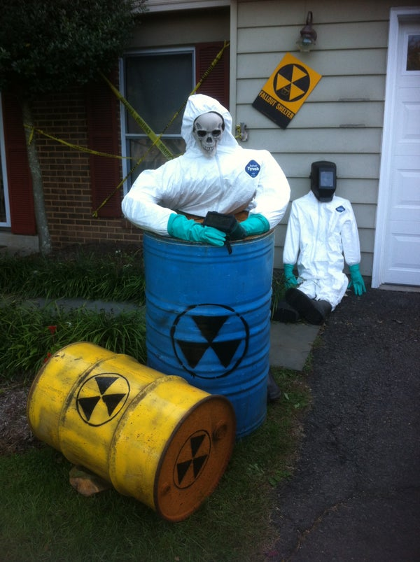 Create Nuclear Meltdown Victims From Existing Halloween Decorations.