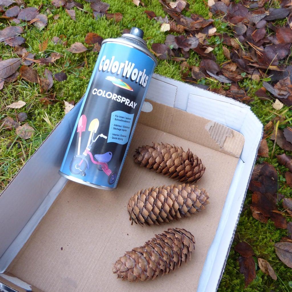Spray Paint Pinecones
