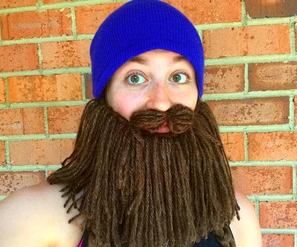 Easy Yarn Beard Hat