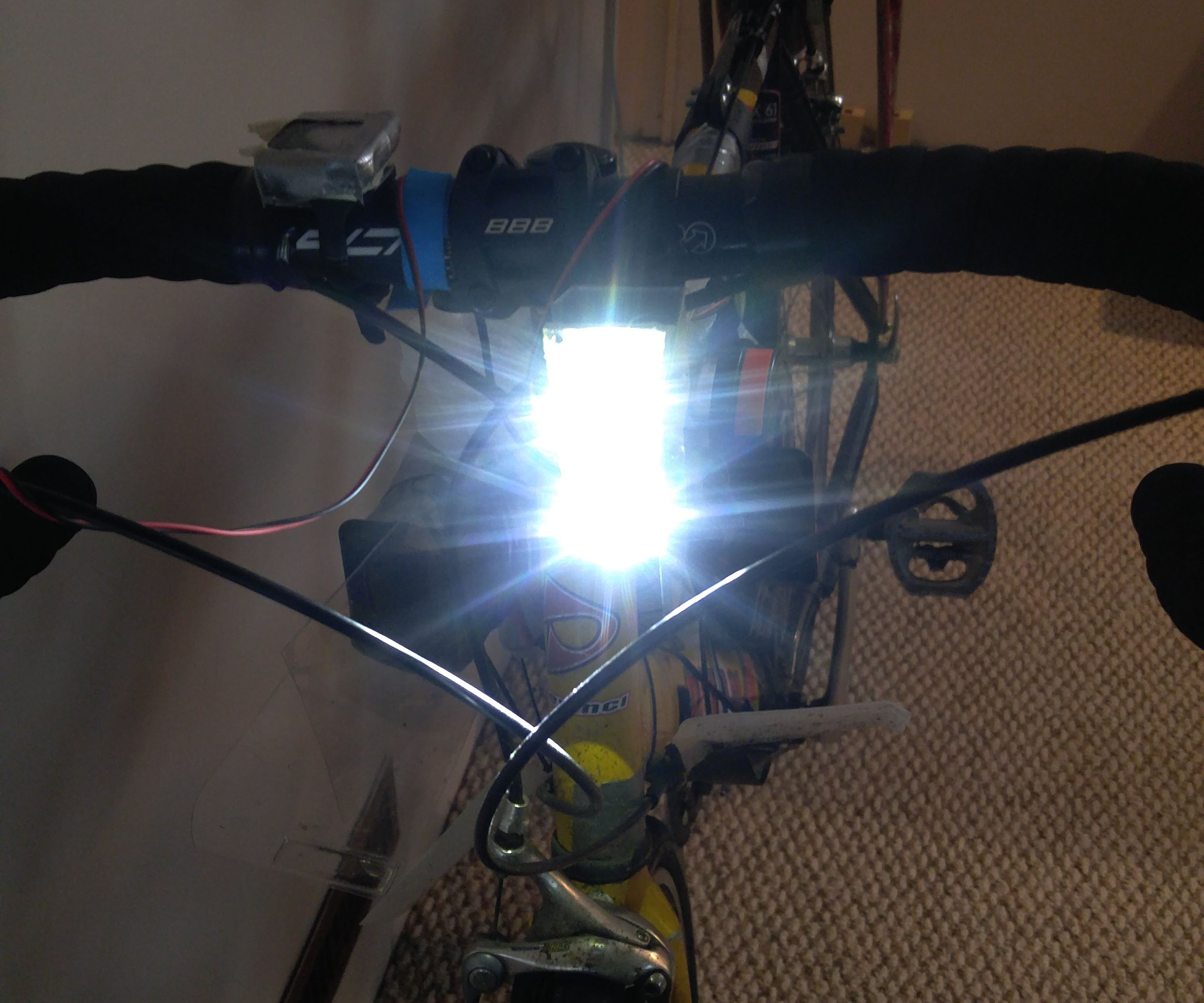 20W LED Bike Headlight With Side Visibility