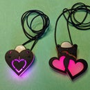 Color-Cycling Glowing Heart Pendant