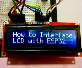 ESP32: How to Interface LCD With ESP32 Microcontroller Development Board