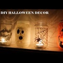 Halloween Decorations With Glass Jars