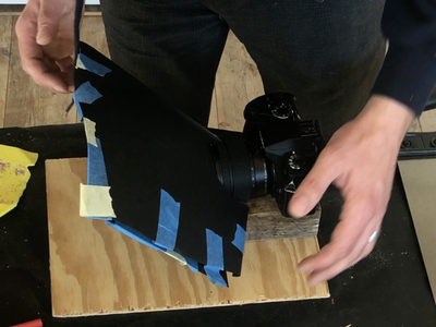 Fit the Camera Into the Hood