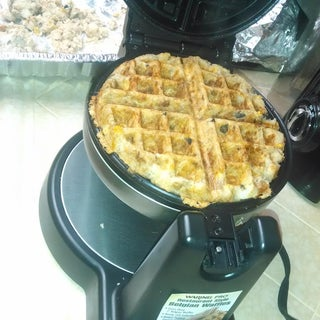 Thankffles- Thanksgiving Leftover Waffles