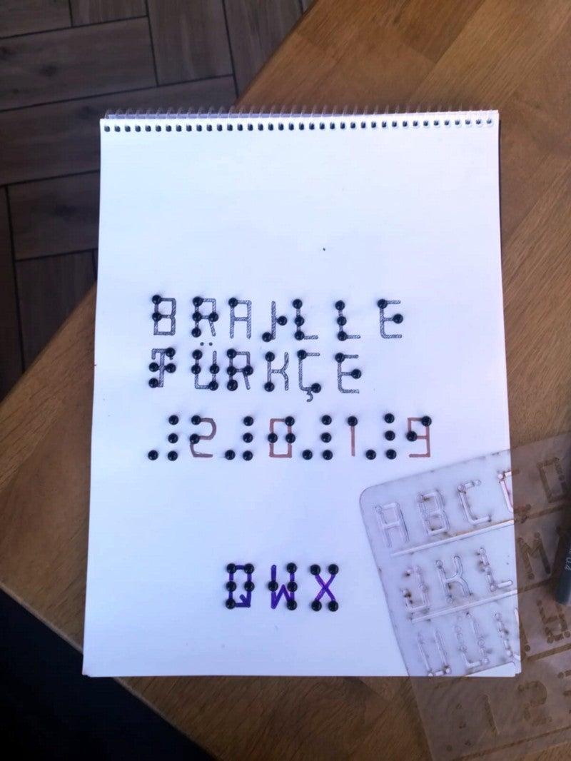 Braille Font Stencil