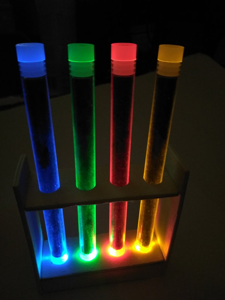 Glowing Stands (precisely Balanced LEDs)