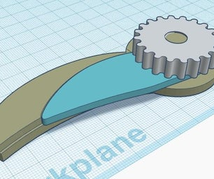 Knife - Folding Utility.  From a Secateur Blade and 3D Printed Parts