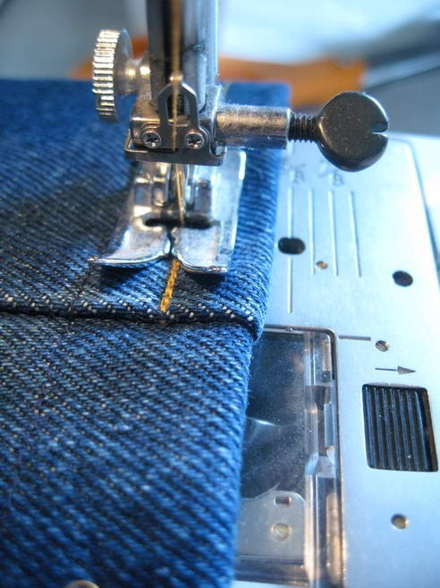 Hemming Jeans the Easy Way