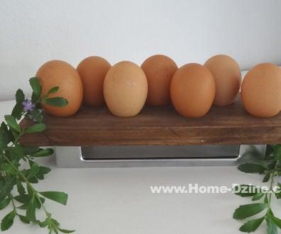 Reclaimed Wood or Pine Egg Holder