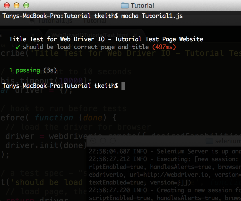 Web Driver IO Tutorial Using A Live Web Site And Working Examples