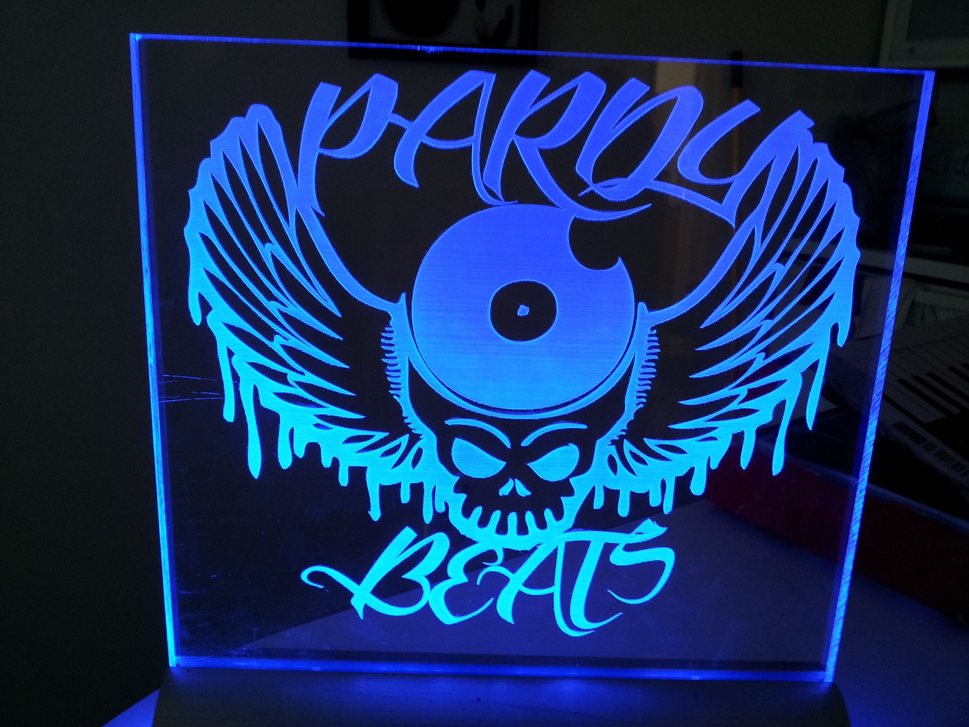 Edge Lit Acrylic Sign