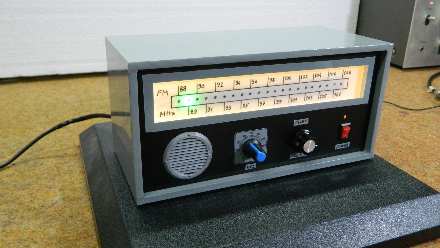 DIY Arduino Retro Look FM Radio With Linear Scale