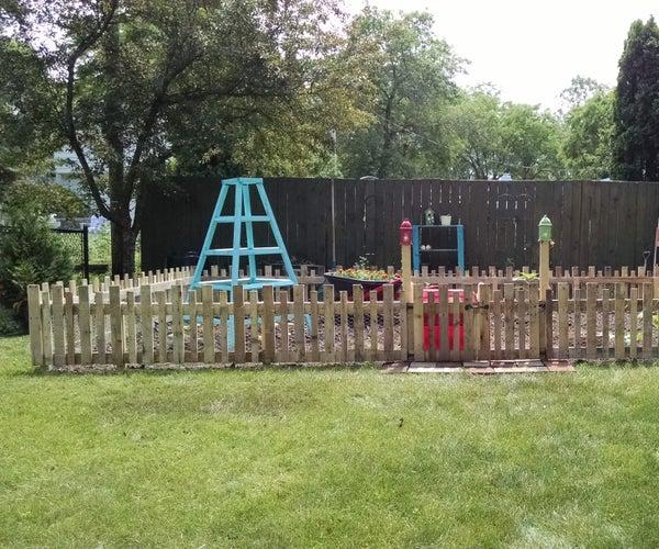 Pallet-Wood Garden Fence