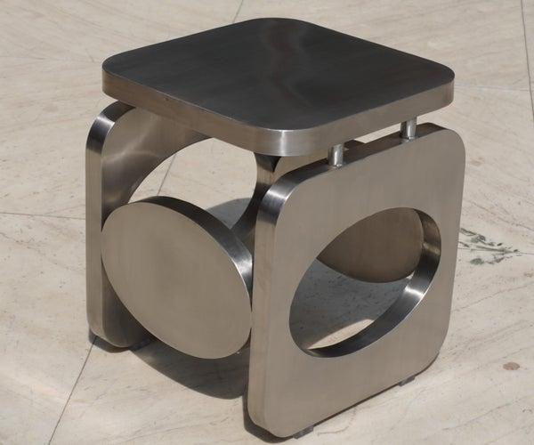 Stainless Steel Sheet Metal Coffee Table