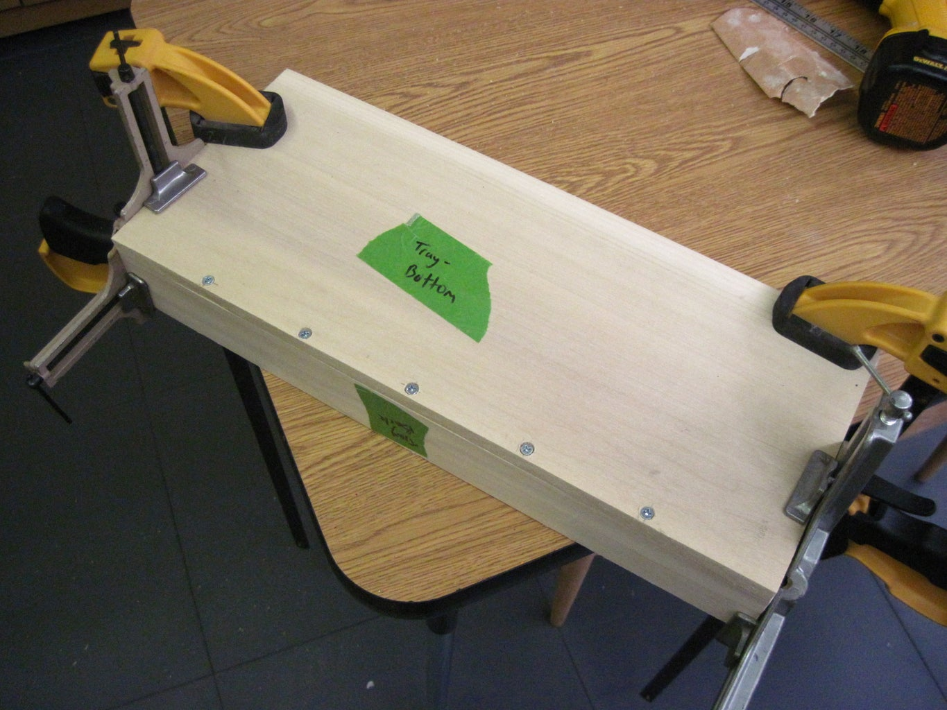 Tray Assembly- Front and Back