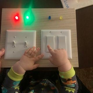 Child's Toy Light Switch Box