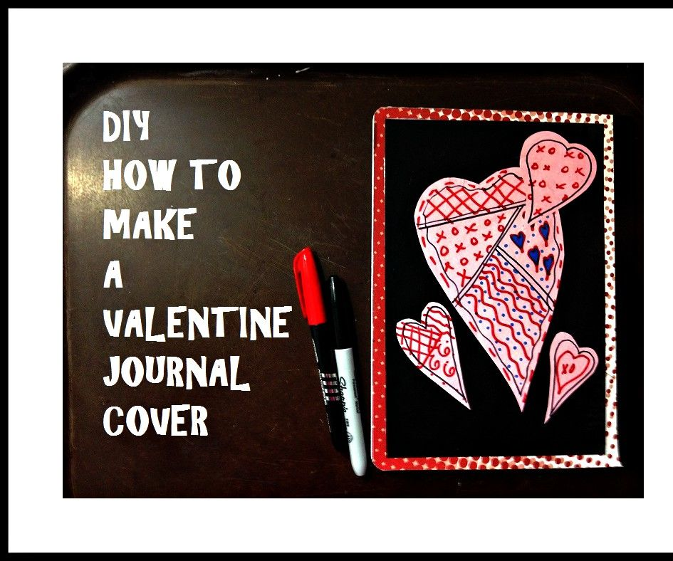 DIY VALENTINE JOURNAL COVER