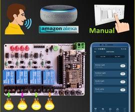 NodeMCU ESP8266 Alexa App Voice Control Smart Home System IoT Projects 2021