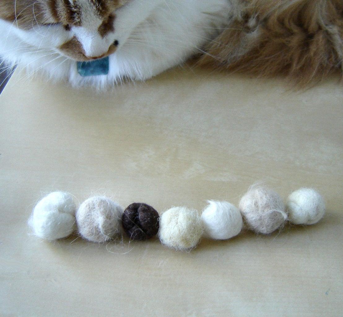 Stringing the Felt Balls