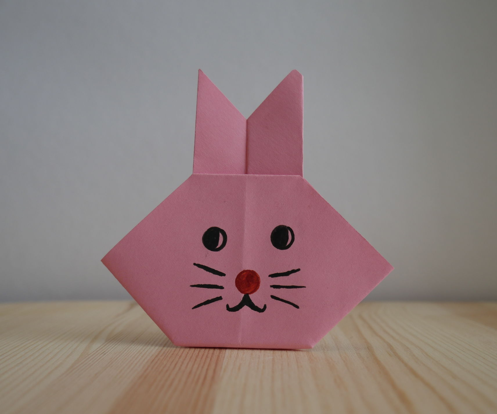 Origami. How to Make a Hare