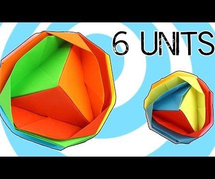 Modular Origami Japanese Brocade 6 Units