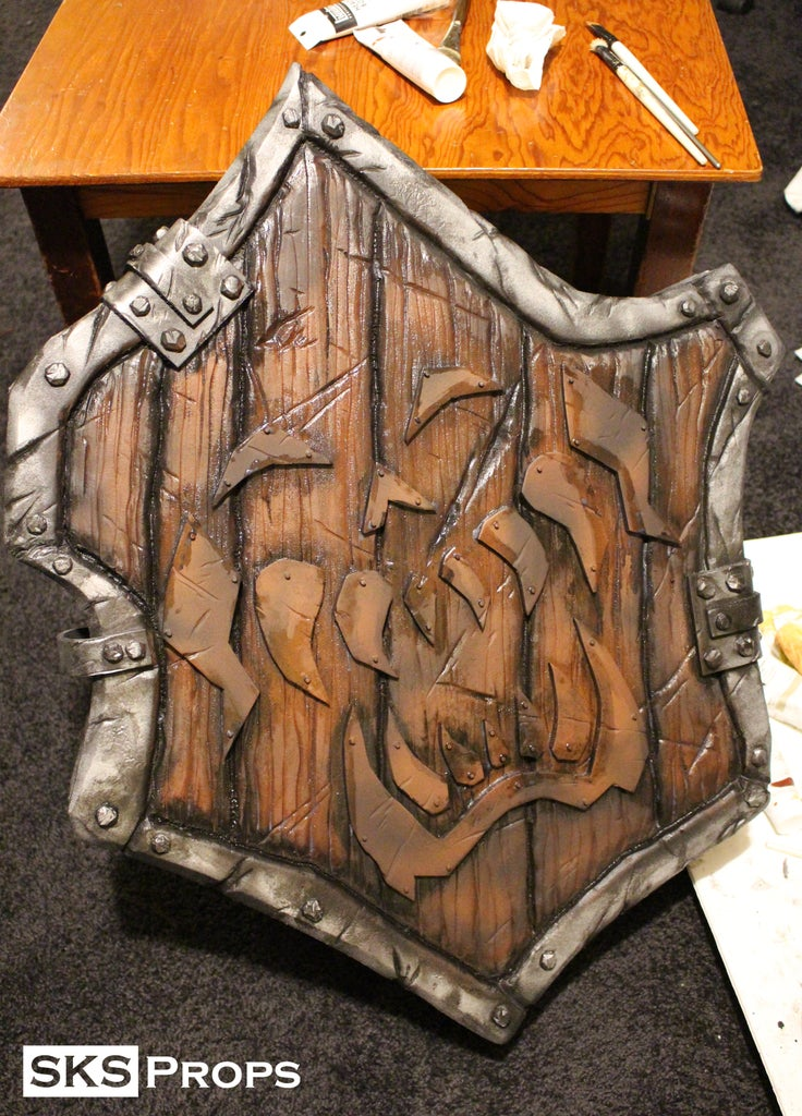Painting Process - the Shield and Belt