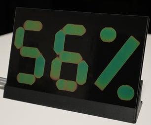 热致变色温度和湿度显示器 -  PCB版本