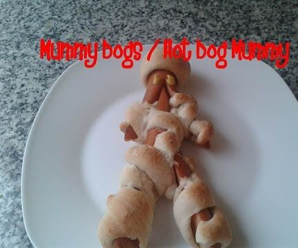 Mummy Dogs / Halloween Hot Dog Mummy Recipe