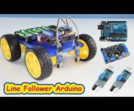 Line Follower Robot Arduino and L293D Shield