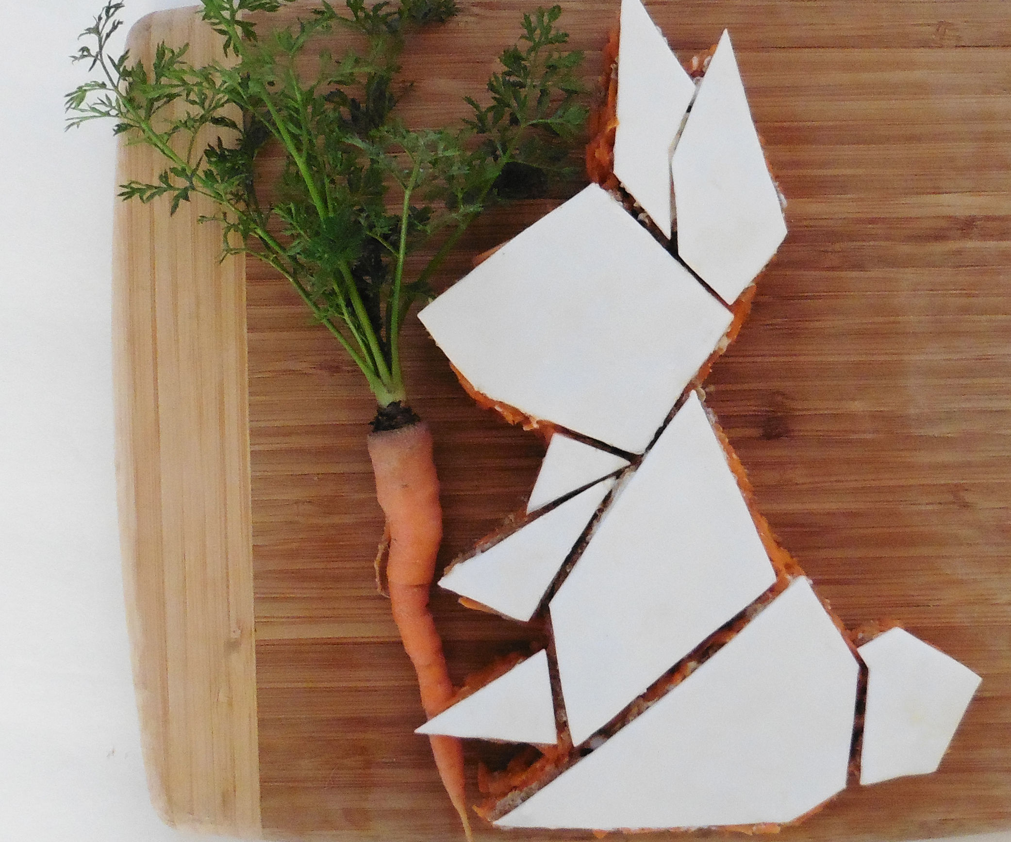 Geometric Bunny Rabbit Carrot Cake