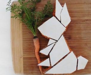 Geometric Bunny Rabbit Carrot Cake