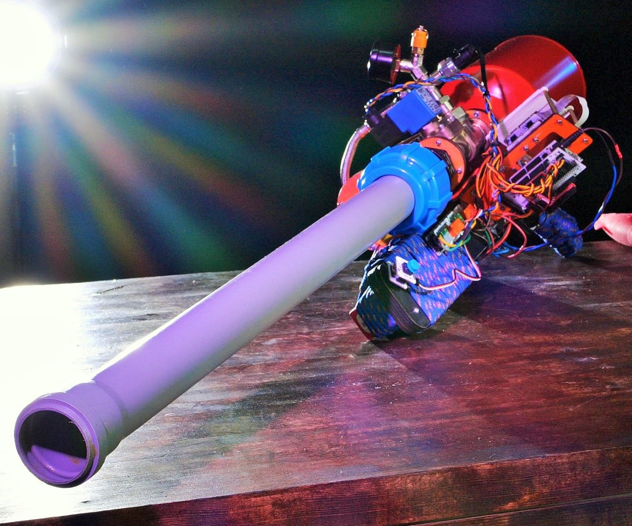 Pneumatic Cannon. Portable and Arduino Powered.