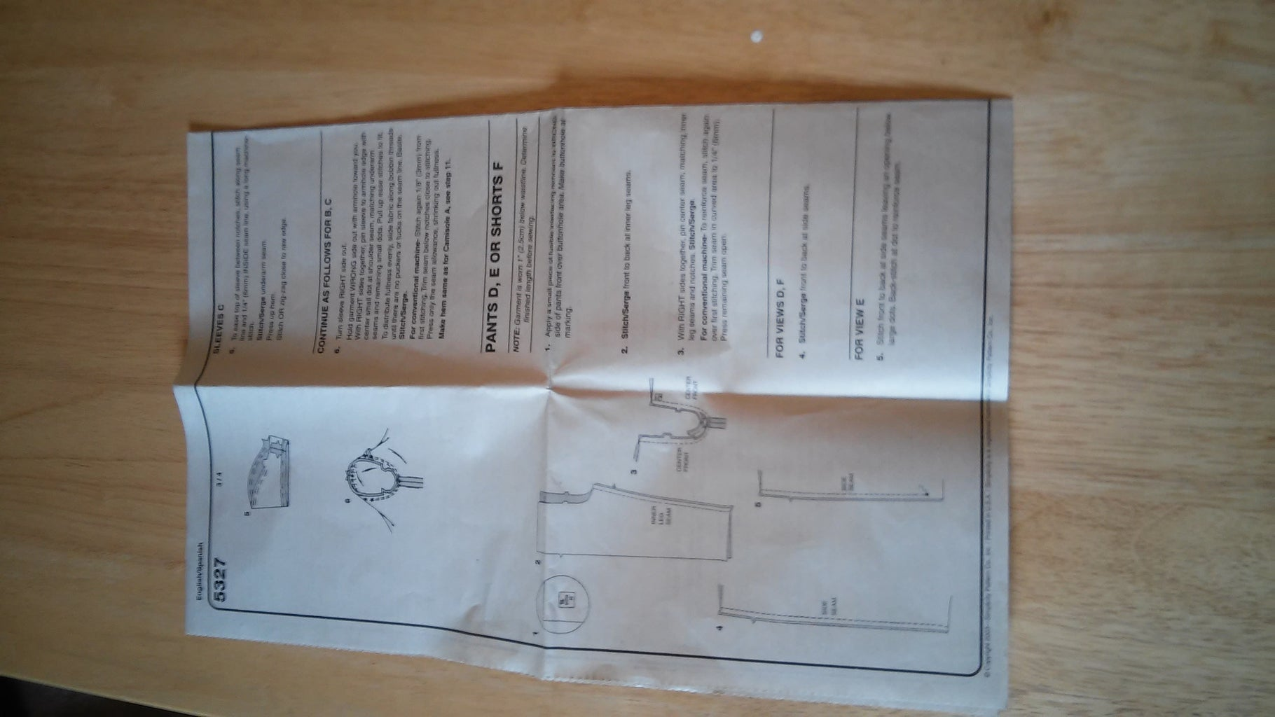 Instructions in Package