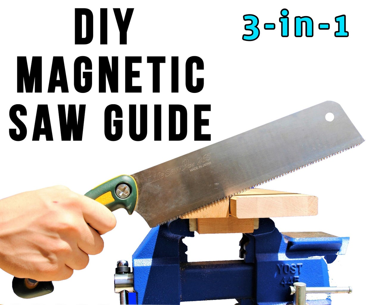 DIY Magnetic 3-in-1 Hand Saw Guide - Cut Straight & Square Without Expensive Tools!