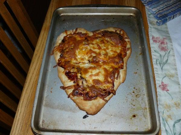 Homemade Heart-shaped Pizza!