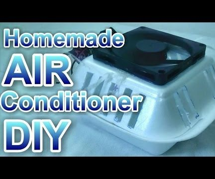 Homemade AIR Conditioner - Run on Batteries and USB