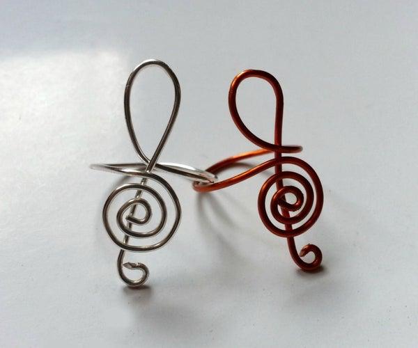 DIY G-Clef Inspired Ring