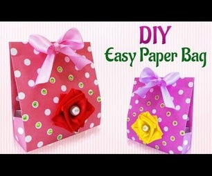 DIY Craft Ideas : How To Make an Easy DIY Paper Gift Bag