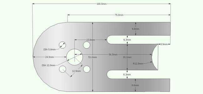 Adjustable Motor Mount Diagrams + 3D Model File