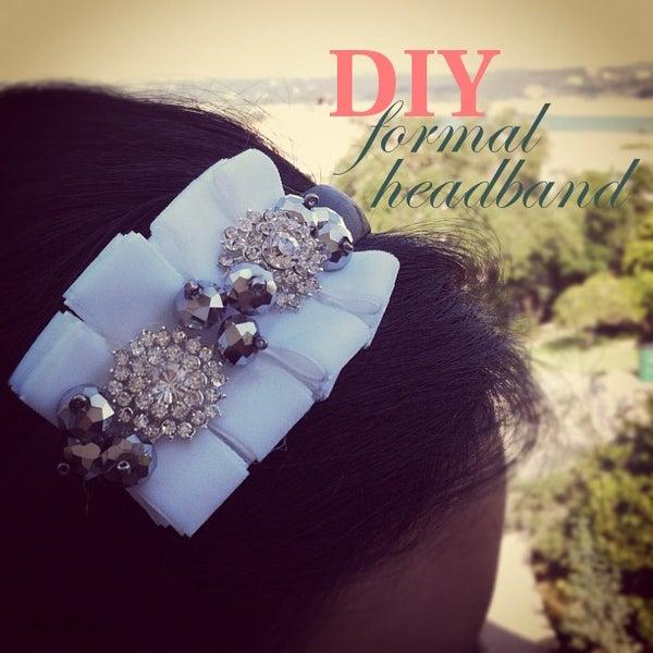 {CHRISTINE} How to Make a Rhinestone & Ruffled Headband